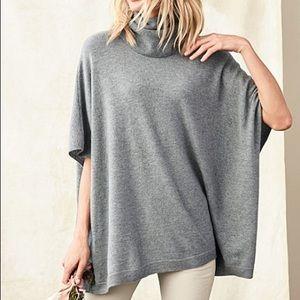 Garnett Hill Cashmere Turtleneck Sweater Cape